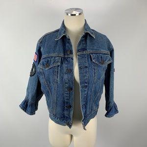 Levi's Strauss Medium Denim Jacket Patches UNIQUE